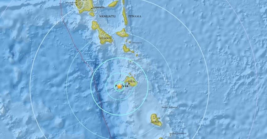 TERREMOTO EN VANUATU de magnitud 6.1 y Alerta de Tsunami (Hoy Jueves 21 Junio 2018) Sismo Temblor EPICENTRO - Océano Pacífico - Port Vila - USGS