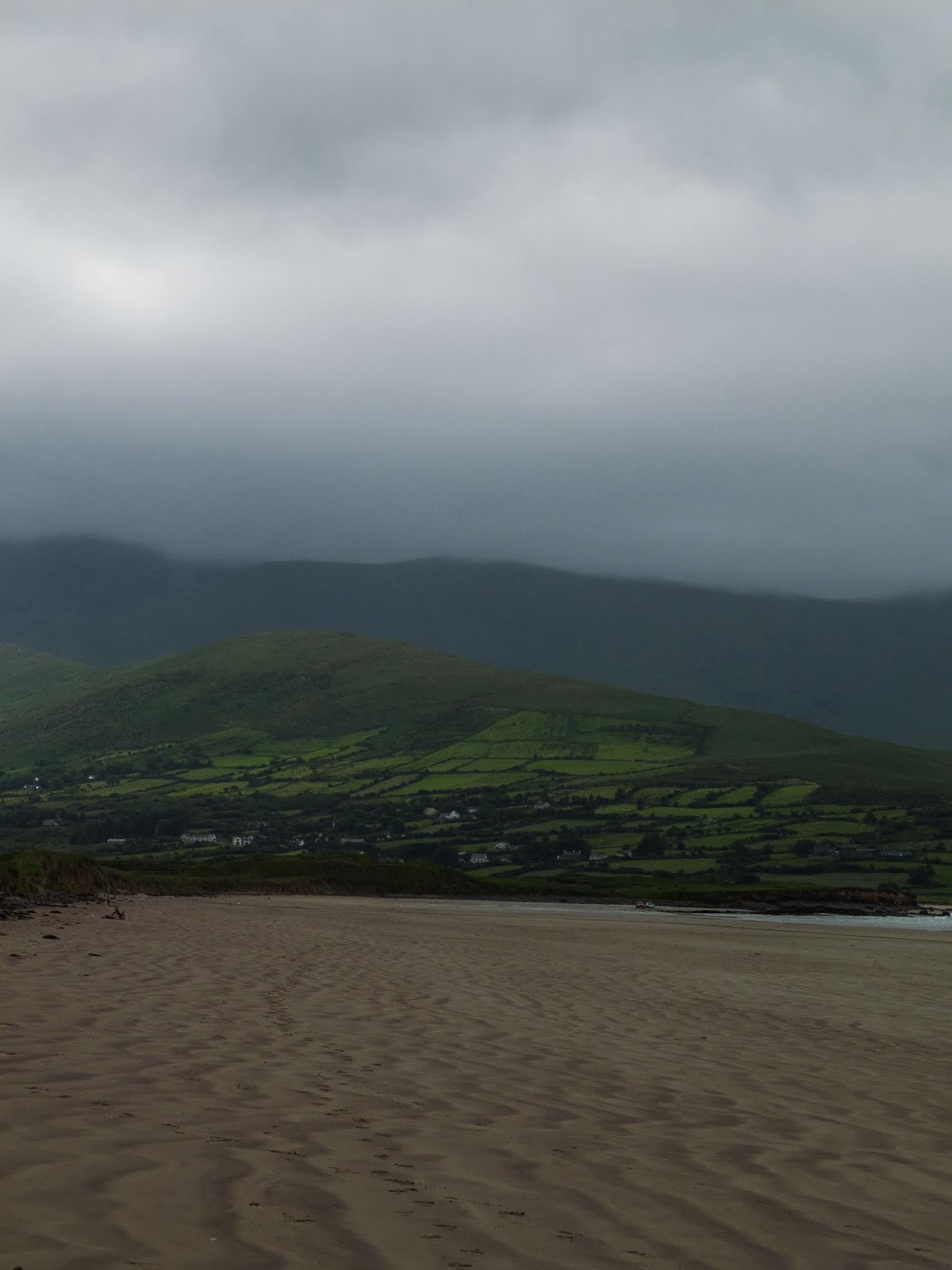 Fermoyle Beach, County Kerry on a cloudy day.