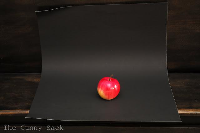 Apple On Black Tag Board