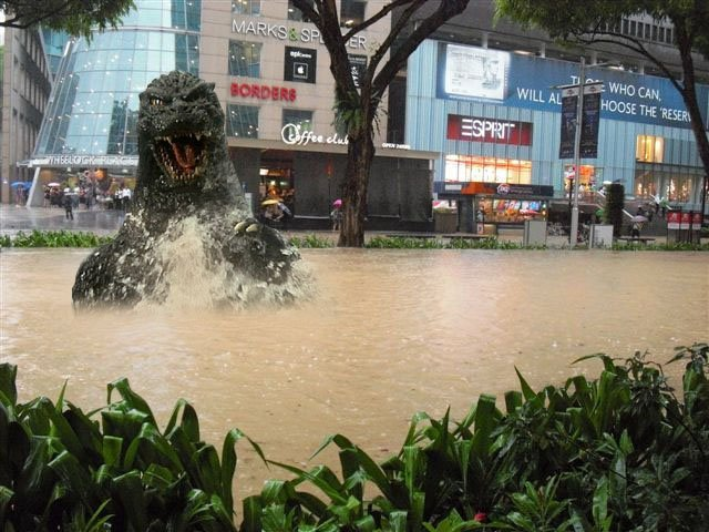 Heavy rain causes more flash floods in Singapore