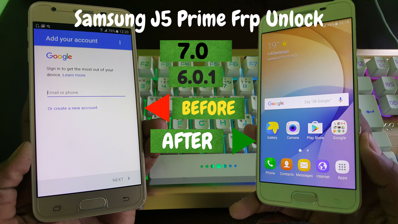 SM-G570F Frp (Samsung J5 Prime) Frp Unlock 7 0 And 6 0 Version | SM