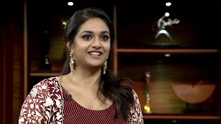 Keerthy Suresh in Maroon Color Dress with Cute and Awesome Lovely Smile