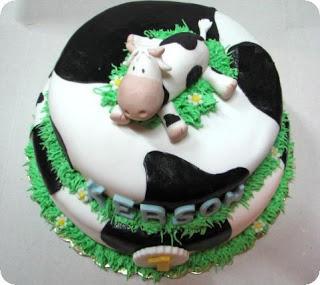 Bonito pastel o torta de vaca.