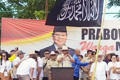 Bendera Tauhid Berkibar di Kampanye Prabowo, PKS: Memang ada yang Salah?
