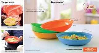 Tupperware flat bowls
