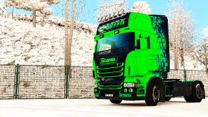 Abstract skin + trailer for Scania RJL