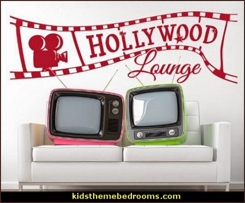 Movie themed bedrooms - home theater design ideas - Hollywood style decor - movie decor -  home cinema decor - movie theater decor - Home Theater Curtains