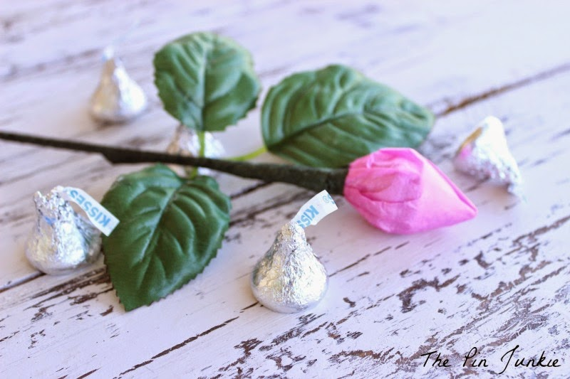 Hershey's Kiss Chocolate Rose