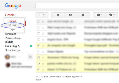 Cara Mengembalikan Kontak Yang Terhapus Di Gmail
