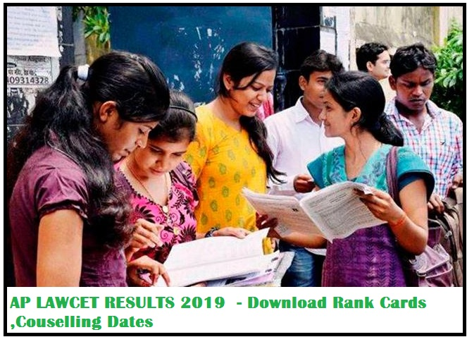 AP LAWCET RESULTS 2019 (Andhra Pradesh APGLCET Results 2019) - Download Rank Cards ,Couselling Dates