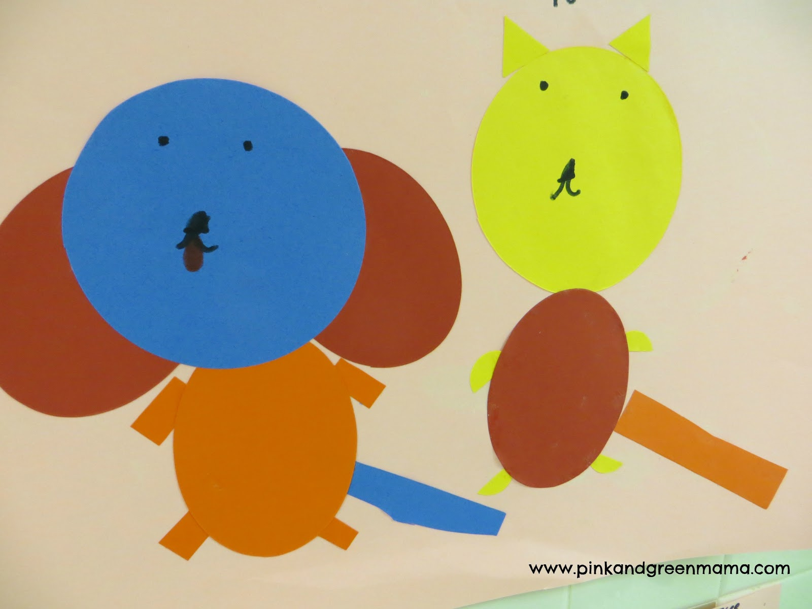 Pink and Green Mama: Simple Shape Collages For Children ...
