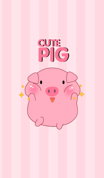 Cute Fat Pink Pig Theme