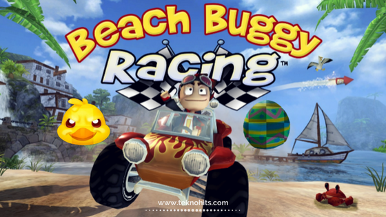 Tempat Telur di Game Beach  Buggy Racing