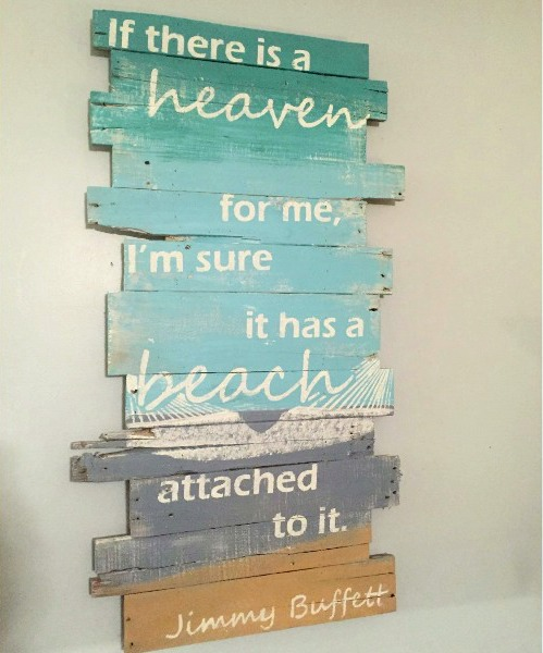 Coastal Ocean Amp Beach Wood Wall Art Ideas For A Rustic