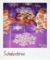 Weihnachtsbäckerei Schokosterne mit weißer Schokolade