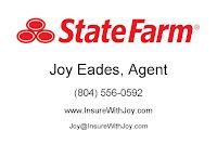 Joy Eades, State Farm Agent, is a proud sponsor of RVAg's Farmers Markets!