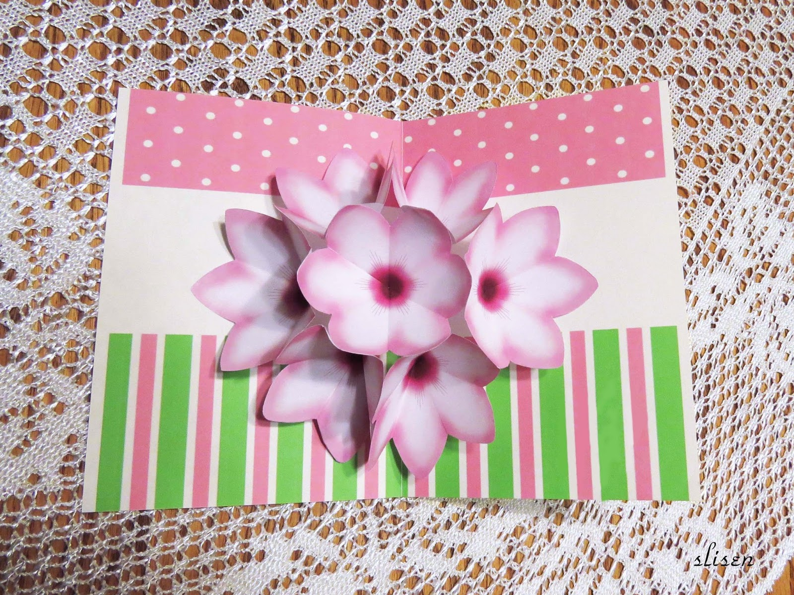 Slisens Happy Place Pop Up Flowers