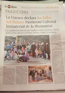 Declaració de les falles del Pirineu com a patrimoni de la humanitat.