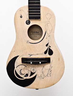 Matthew Reid - art - guitar - wateraid - hand painted guitar - acoustic
