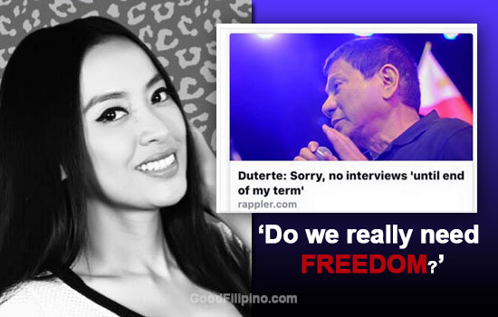 Mocha Uson: 'Do We Really Need FREEDOM? Or do we need DISCIPLINE?'