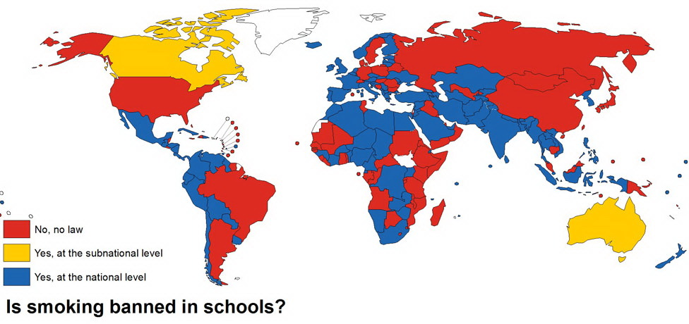 Is smoking banned in schools