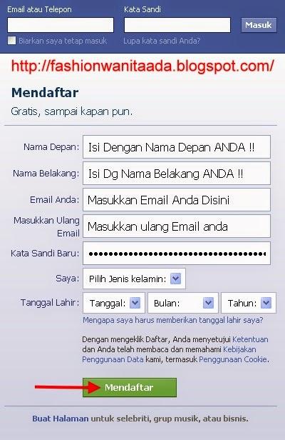 Daftar facebook Indonesia online gratis