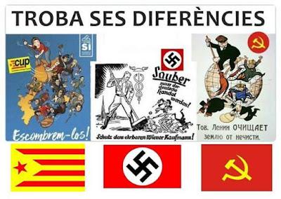 troba ses diferències, Catalunya, nazis, comunisme, mallorquí, Cup, escombrem-los