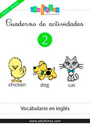 Cuadernillo en PDF del vocabulario para aprender inglés