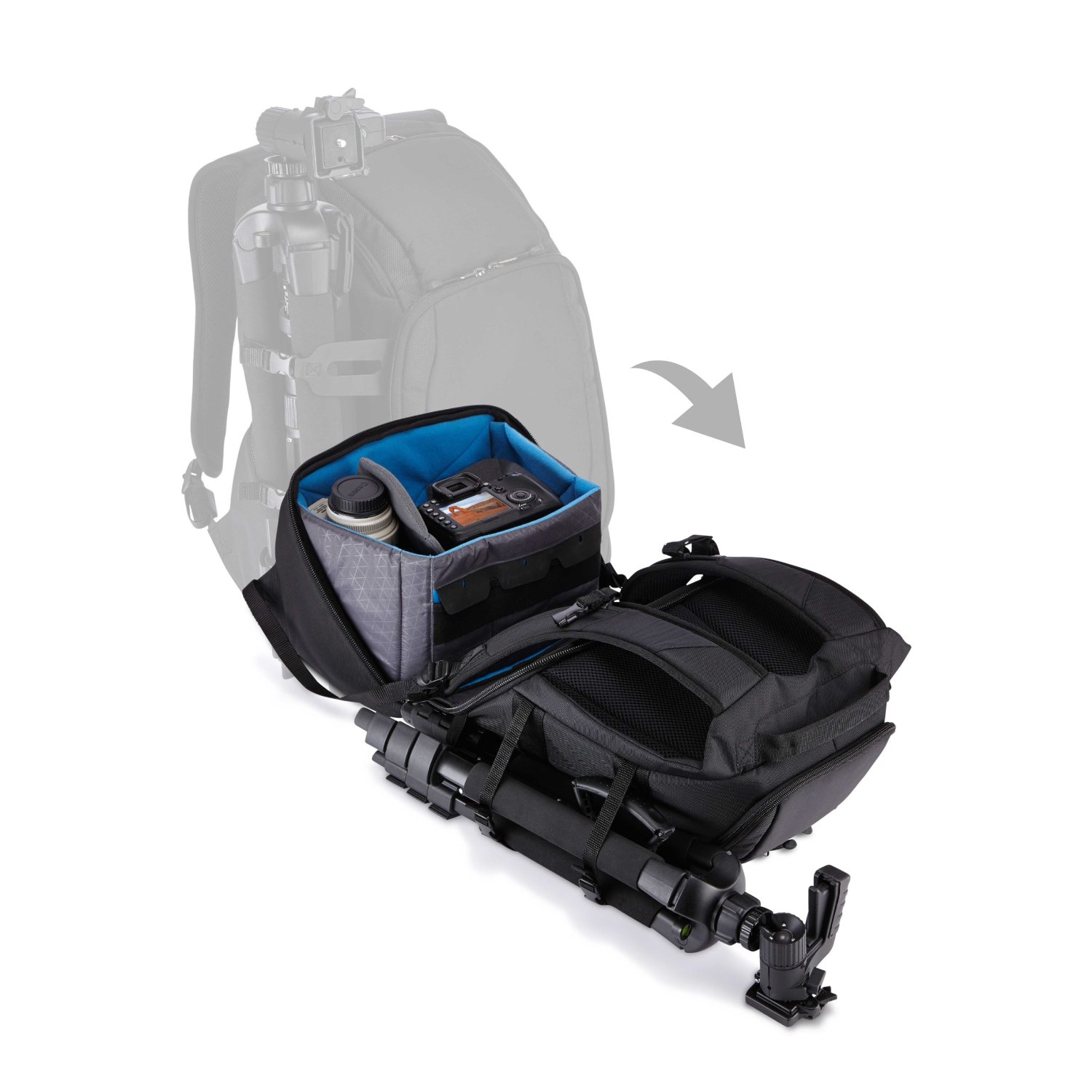 Case Logic Luminosity DSB-103 Large DSLR Split Pack open view