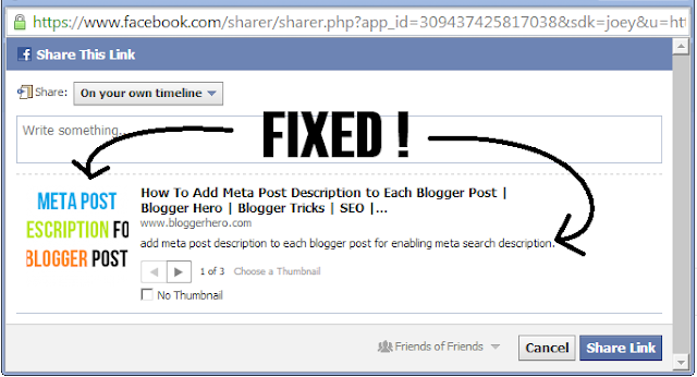 facebook share fixed
