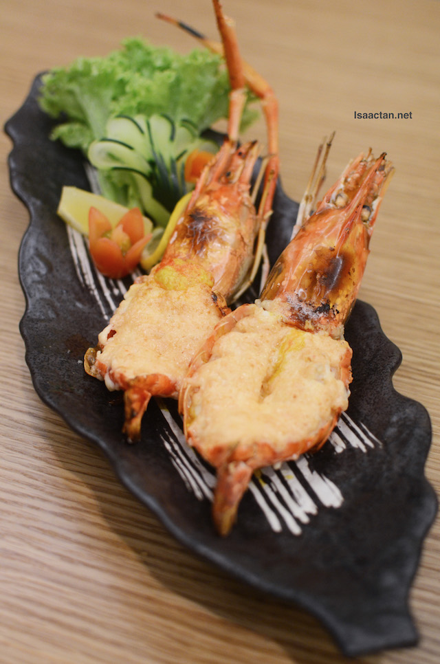 Mentai King Prawn (with Half Broiled Cod Roe) - RM28