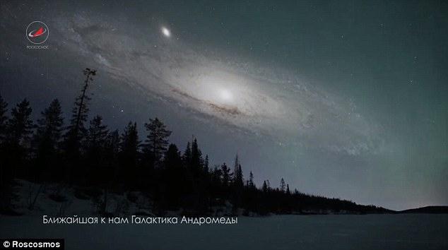 Galáxia de Andrômeda próxima da Terra