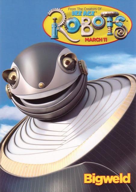 Imagen en 3D del cartel del Gran Soldador de la película Robots