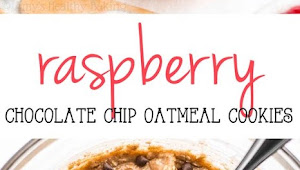 Raspberry Chocolate Chip Oatmeal Cookies