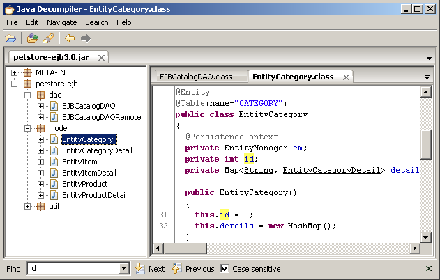 Java Decompiler (Jad) JD-GUI