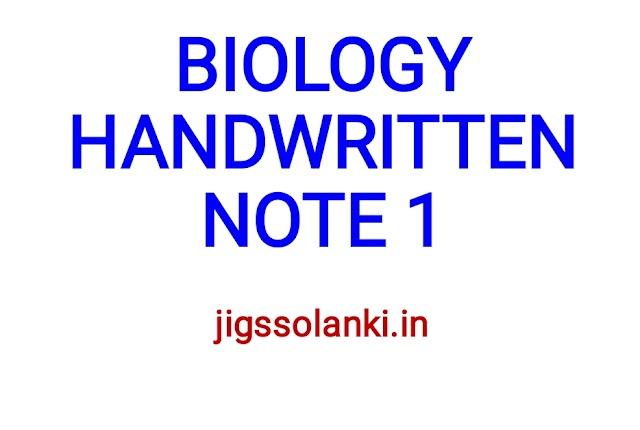 BIOLOGY HANDWRITTEN NOTE 2