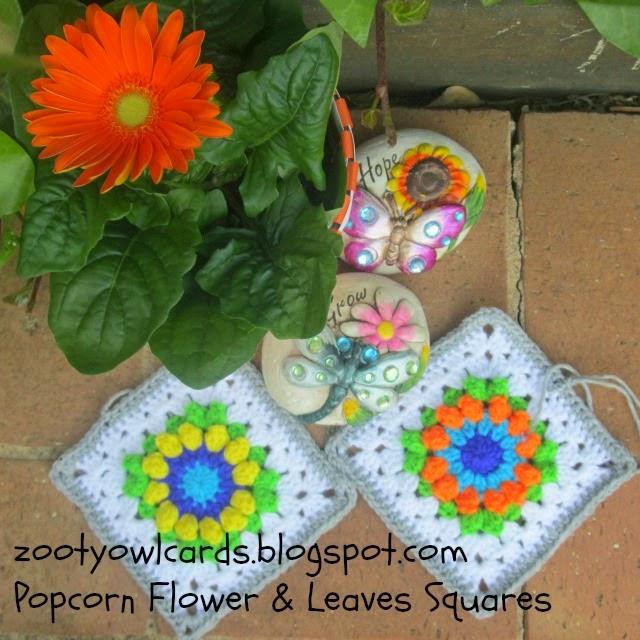 popcorn stitch squares