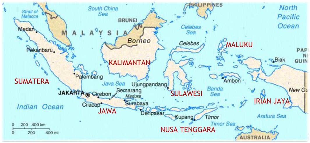 Daftar Nama Pulau Utama di Indonesia Beserta Letaknya ...