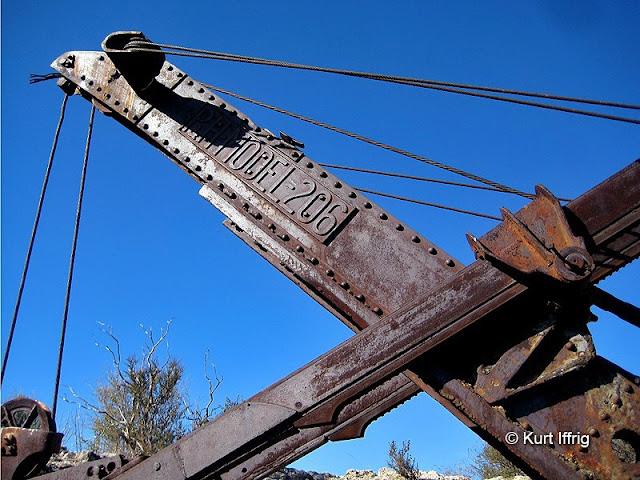 Coquina Mine's P&H Model 206 power shovel is still is good condition after nearly 100 years.