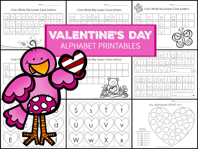 Valentine's Day Alphabet writing activities