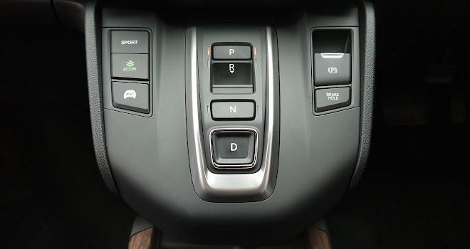 Honda CR-V Hybrid transmission selector