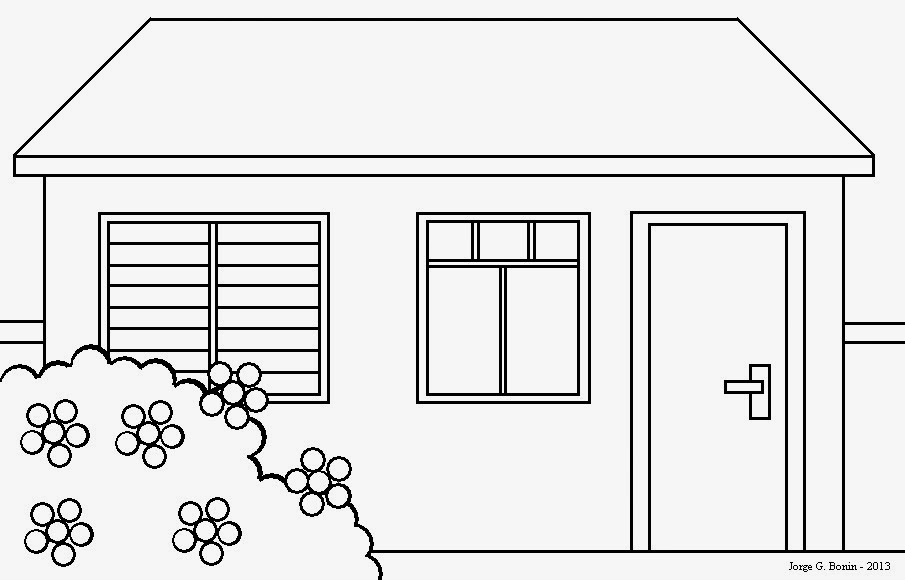 Arte No Paint: Desenho Para Colorir: Casa