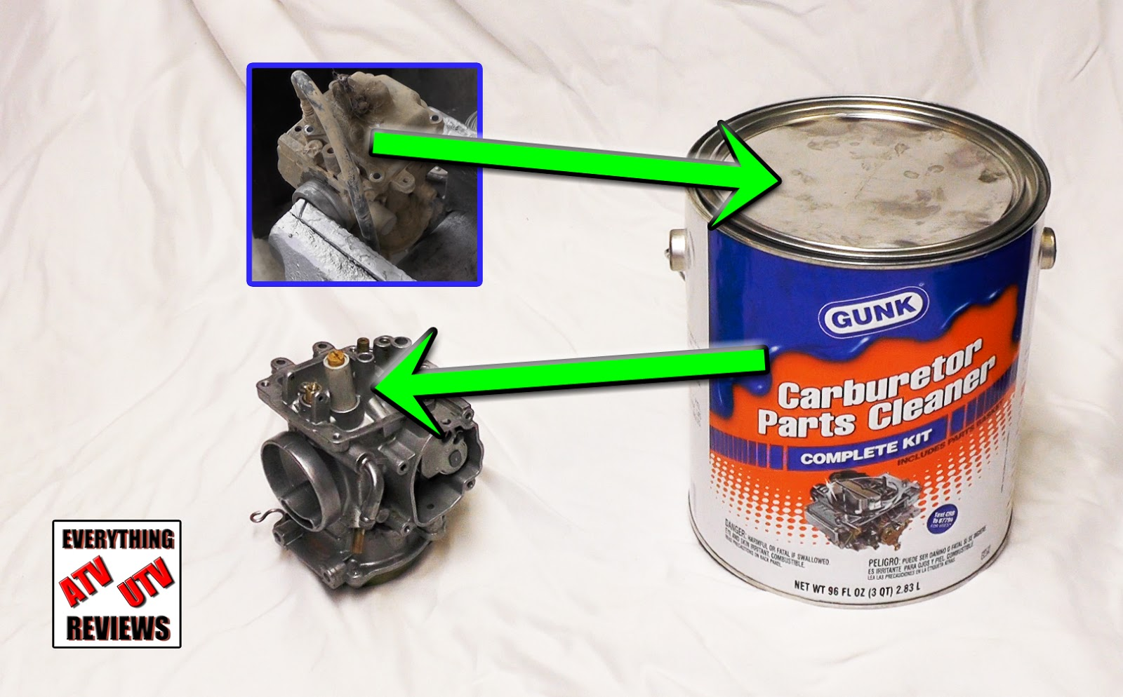 Before You Give Up On Cleaning And Rebuilding Re Old Dirty Atv Carb Look At This Product By Gunk Over The Years I Ve Used Tried Many Diffe