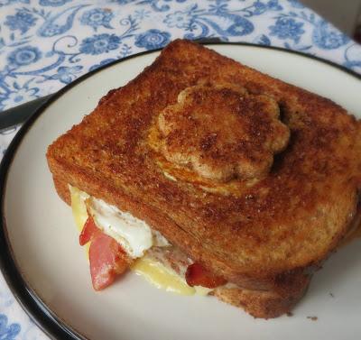 Grilled Egg in a Hat Breakfast Sandwich