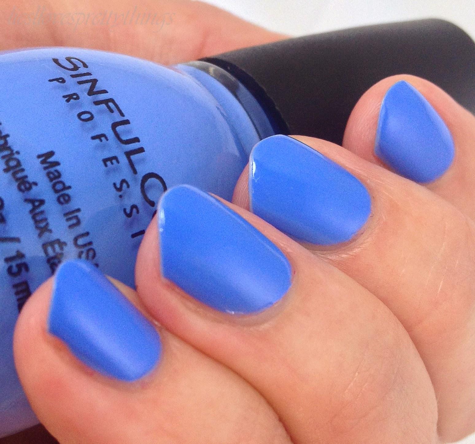 Liesl Loves Pretty Things Sinful Colors Blue La La