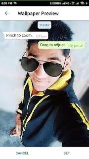 whatsapp ke background me apni photo kaise lagaye