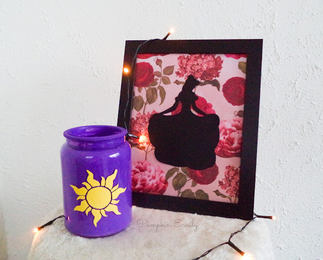 DIY Tangled Inspired Jar and DIY Princess Frame Art