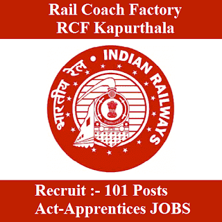 Rail Coach Factory, RCF Kapurthala, RCF, Railway, RCF Kapurthala Answer Key, Answer Key, kcf kapurthala logo