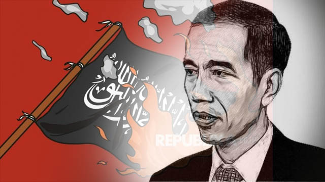 Pembakaran Bendera Bertuliskan Kalimat Tauhid Pertanda Kekalahan Jokowi