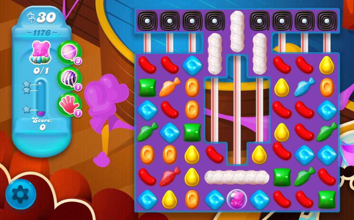 Candy Crush Soda Saga level 1176